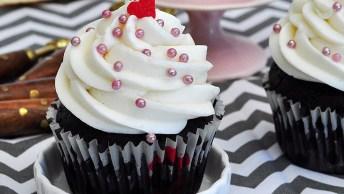 Receita De Cupcake Vegano De Chocolate Com Buttercream, Uma Delicia!