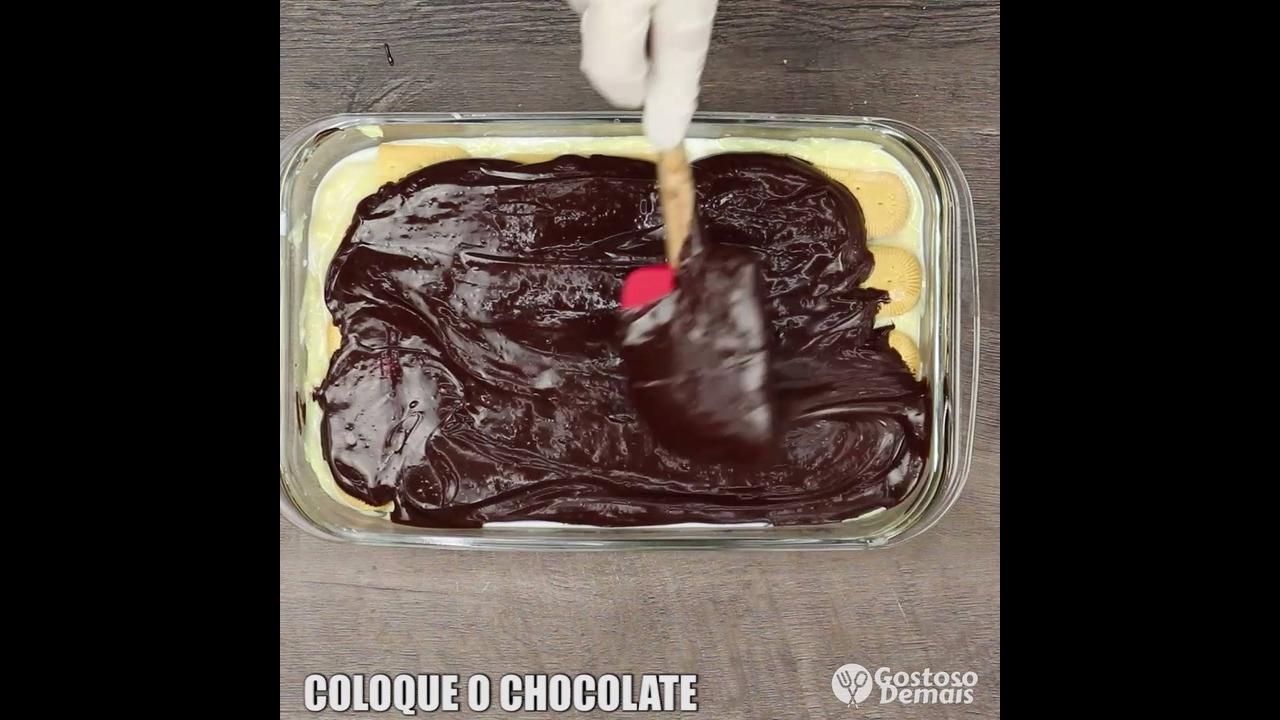 Receita de de pavê de leite em pó com chocolate, olha só que maravilha!!!