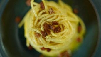 Receita De Espaguete Á Carbonara, Super Rápido E Fácil De Fazer!