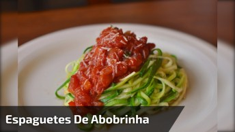 Receita De Espaguetes De Abobrinhas, Uma Ideia Que Esta Fazendo Sucesso!