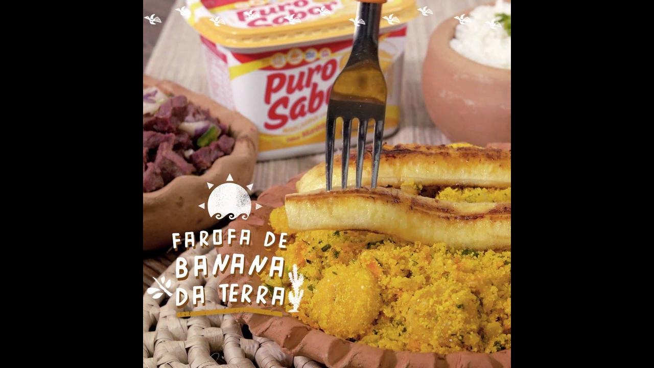 Receita de farofa de banana, olha só que maravilha de receita!!!