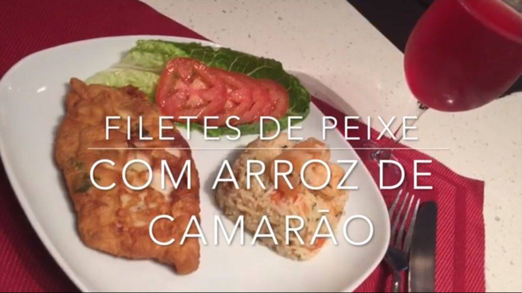 Receita de Filé de Peixe com Arroz de Camarão