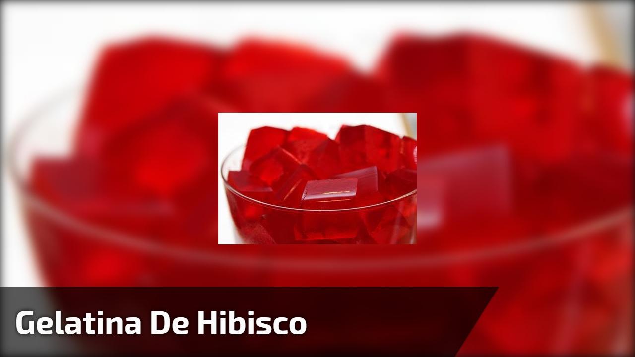 Gelatina de Hibisco