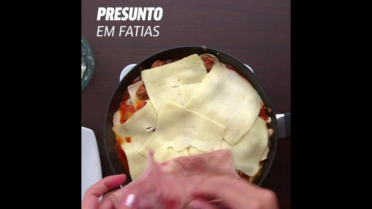 Receita de lasanha de frigideira