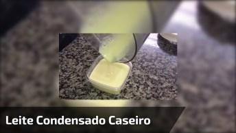Receita De Leite Condensado Caseiro, Fica Muito Parecido Com Os Comprados!