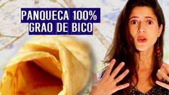 Receita De Massa De Panqueca Vegetariana Feita Com Grão De Bico!