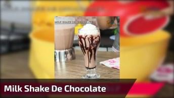 Receita De Milk Shake De Chocolate, Uma Delicia De Saborear!
