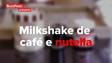 Receita De Milkshake De Café Com Nutella, Simplesmente Delicioso!