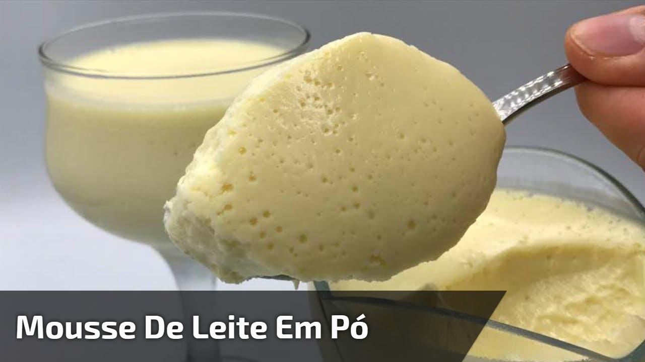 Mousse de leite em pó