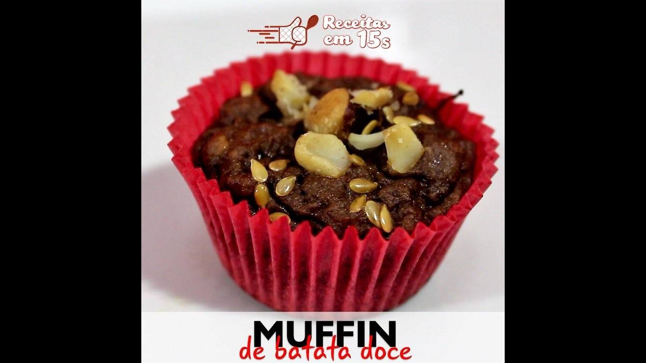 Receita de Muffin de Batata Doce