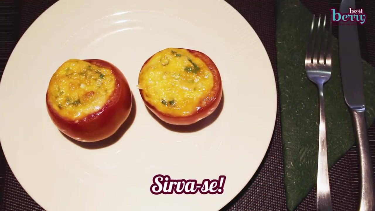 Receita de omelete com tomates e queijo