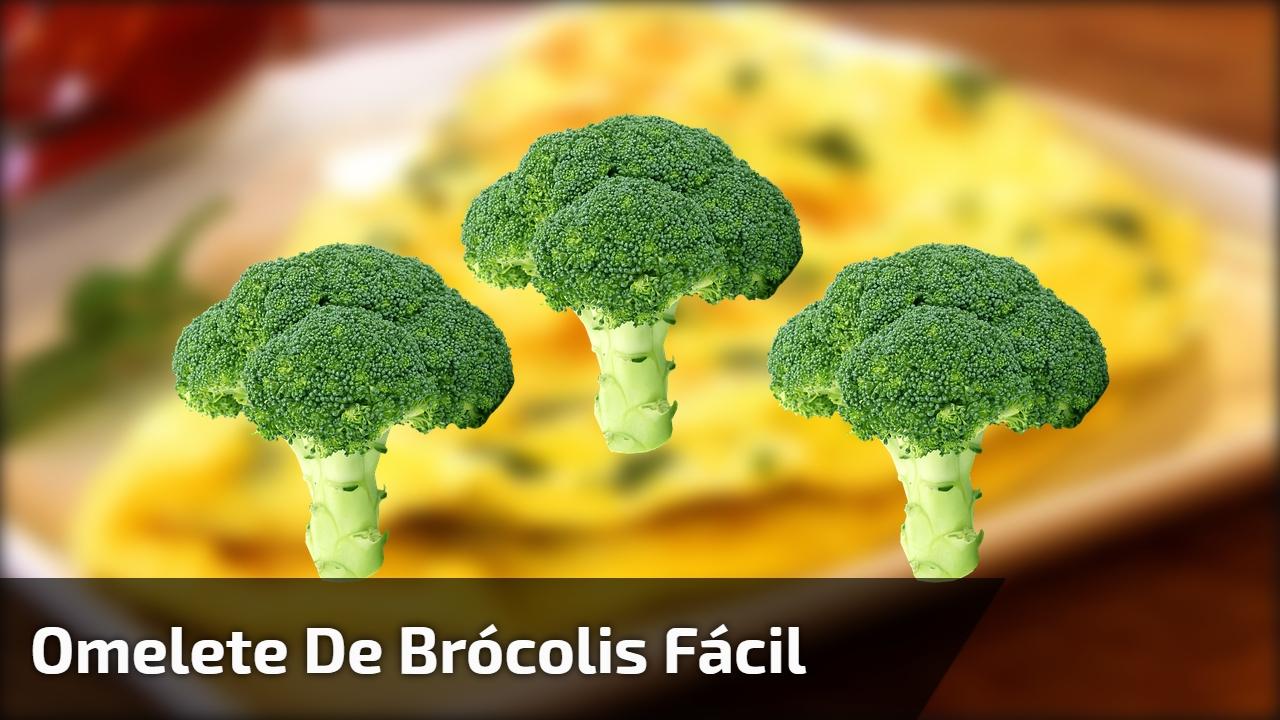 Omelete de brócolis fácil