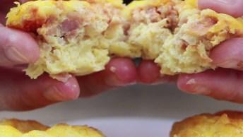 Receita De Omelete De Forno Com Presunto E Queijo, Uma Delicia De Receita!