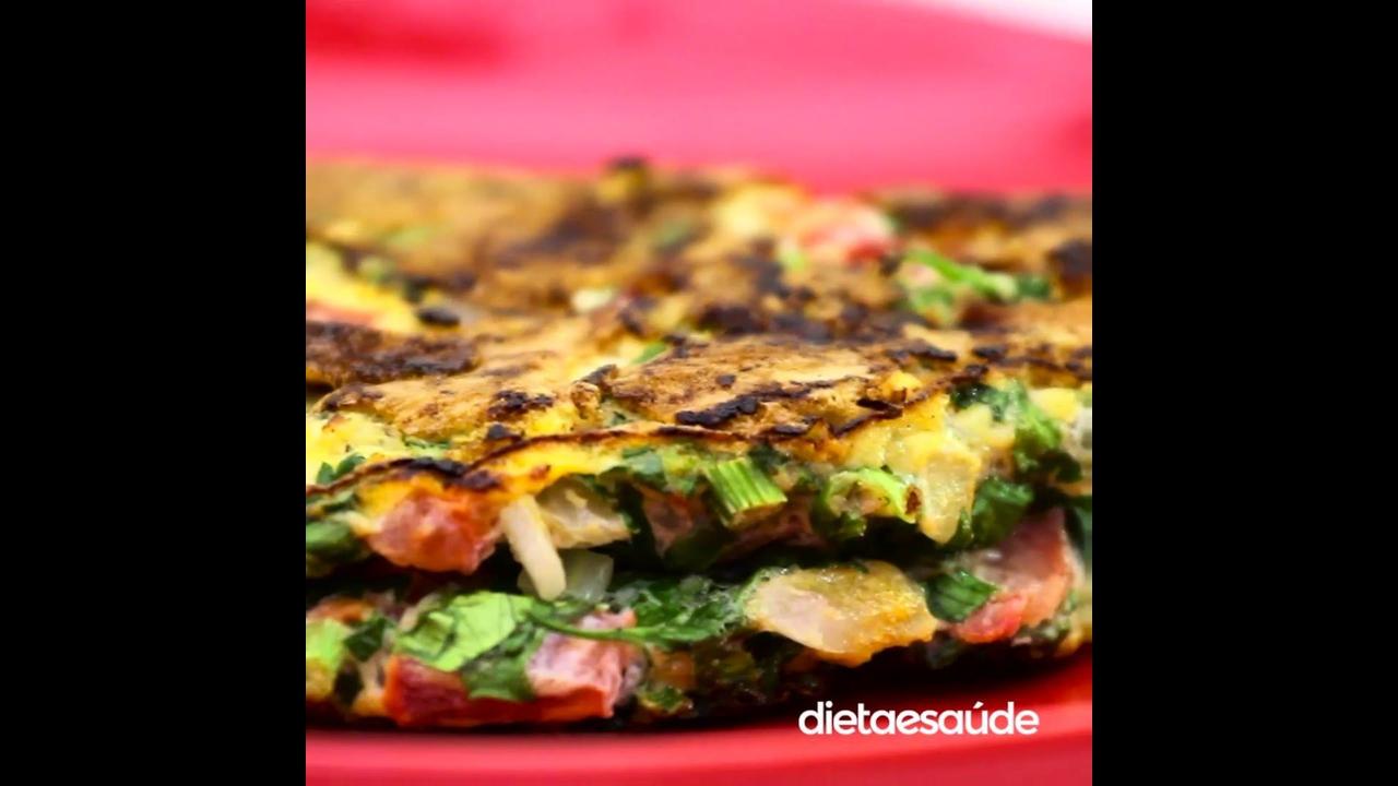 Receita de omelete verde, olha só que delicia de omelete
