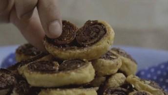 Receita De Palmier De Chocolate, Super Simples De Preparar!