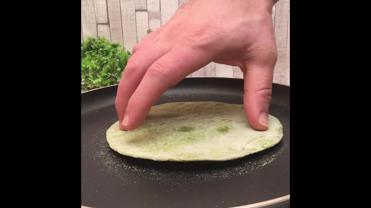 Receita de Panqueca de Espinafre