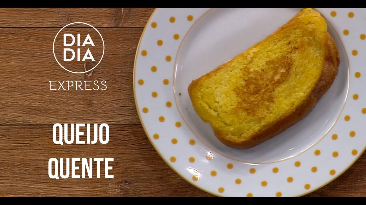 Receita de pão com queijo quente
