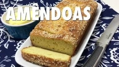 Receita De Pão De Amêndoas, Mais Uma Ideia Com Baixa Calorias!