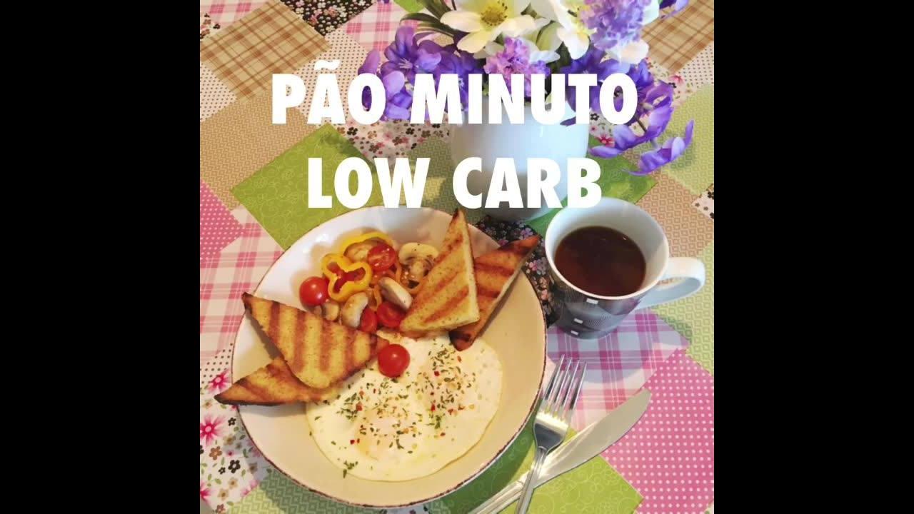 Receita de pão de minuto Low Carb