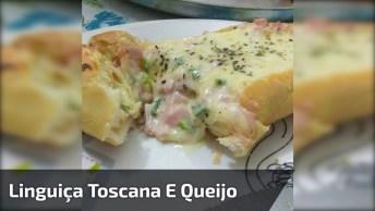 Receita De Pão Recheado Com Linguiça Toscana E Queijo, Super Fácil De Fazer!