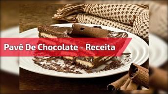 Receita De Pavê De Chocolate - A Receita Oficial Do Natal Ainda Mais Gostosa!