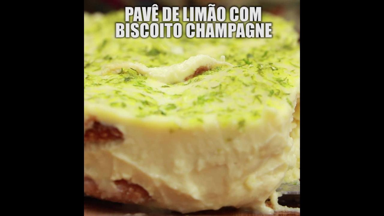 Receita de pavê de limão com biscoito champanhe, uma maravilha de sobremesa!!