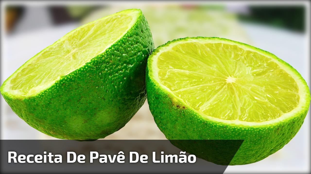 Receita de pavê de limão