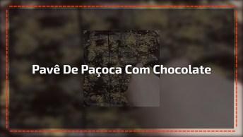 Receita De Pavê De Paçoca Com Chocolate, Olha Só Que Delicia!