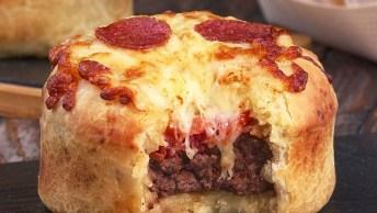 Receita De Pizza Com Hambúrguer, Uma Combinação Mais Que Perfeita!