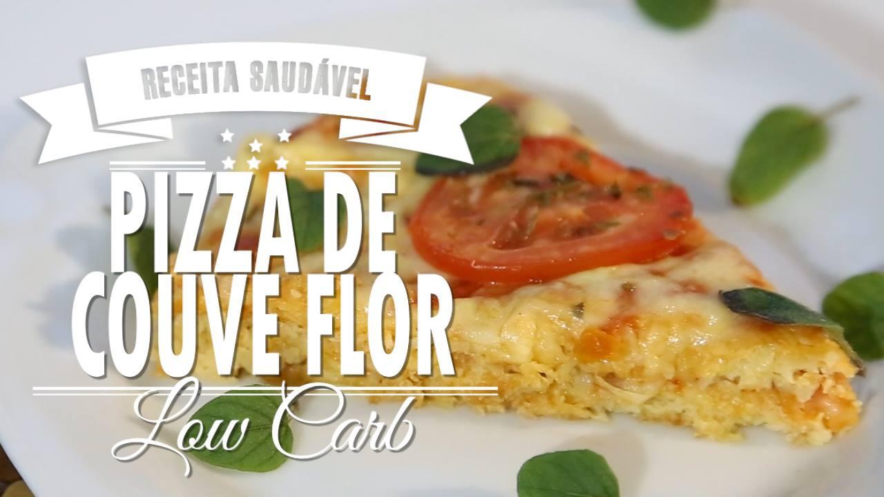 Receita de Pizza Low Carb, feita com couve-flor