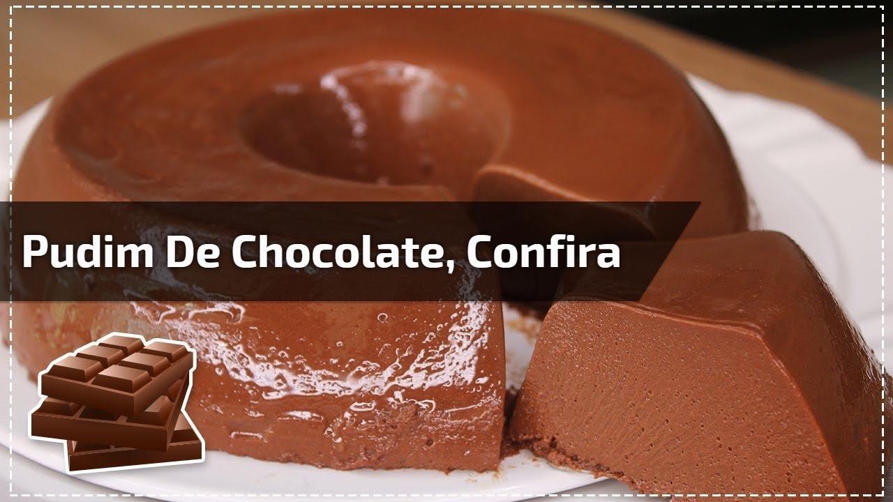 Pudim de chocolate, confira