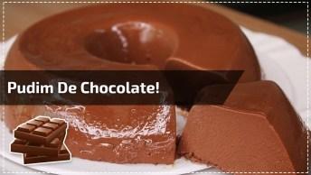 Receita De Pudim De Chocolate, Simples E Muito Gostoso, Confira!