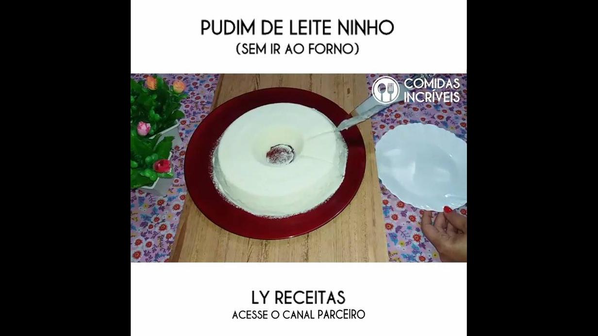Receita de pudim de leite Ninho
