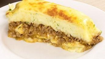 Receita De Purê De Batata Com Carne Moída, Uma Delicia De Comida!