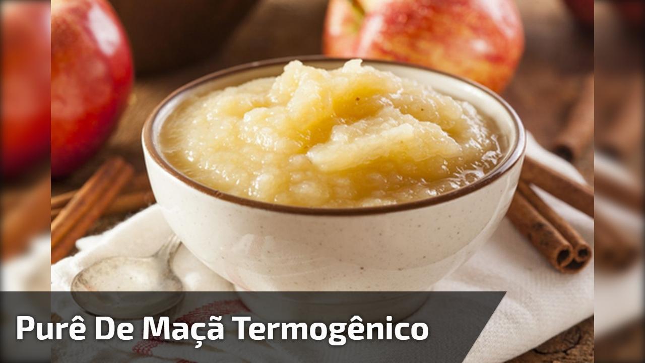 Purê de maçã termogênico