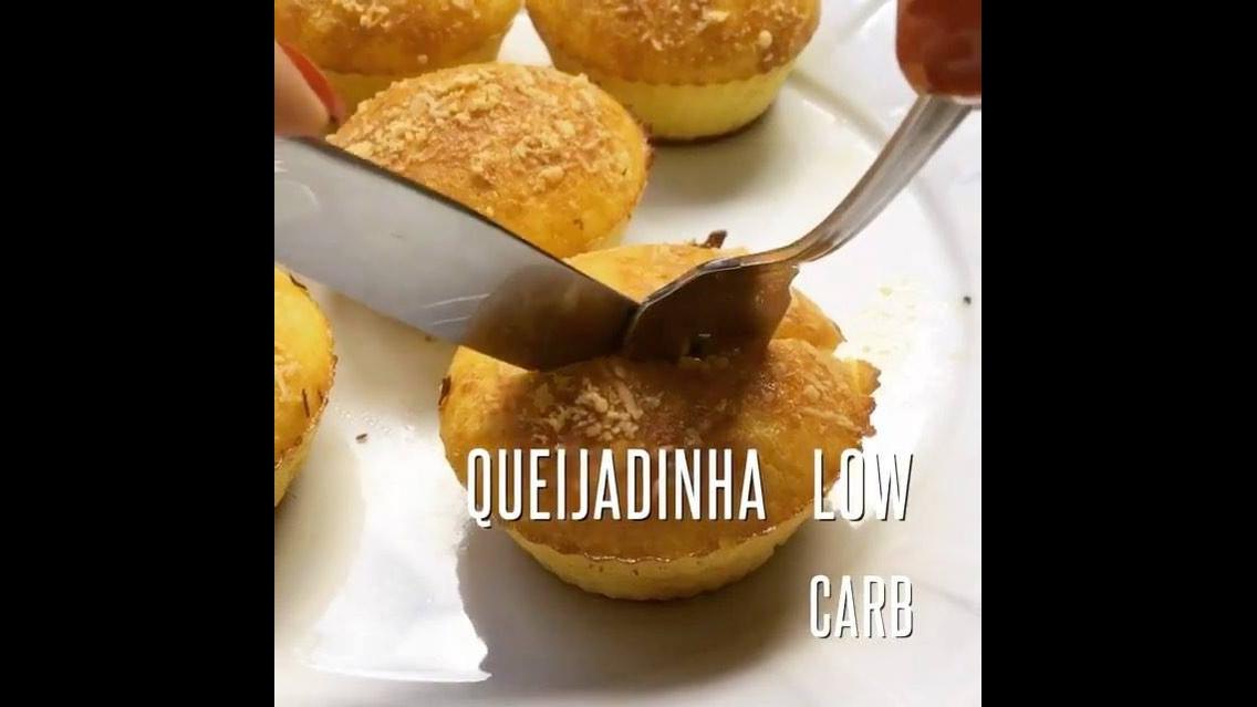 Receita de queijadinha low carb, super gostosa e fácil de fazer!!!