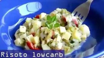 Receita De Risoto Low Carb De Brócolis E Palmito, Simplesmente Delicioso!