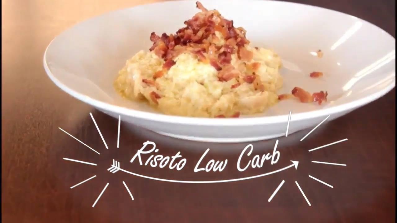 Receita de risoto low carb