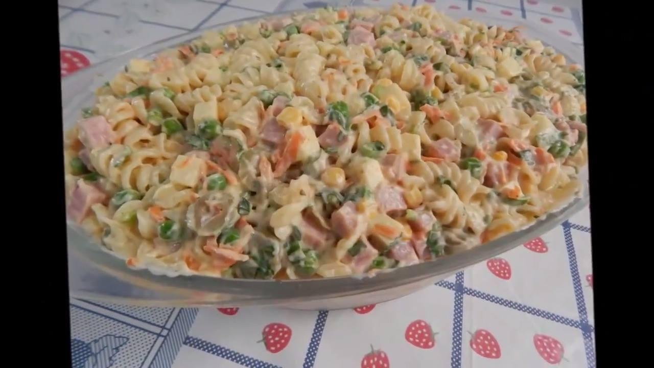 Receita de salada de macarrão, olha só que maravilha de receita!!!