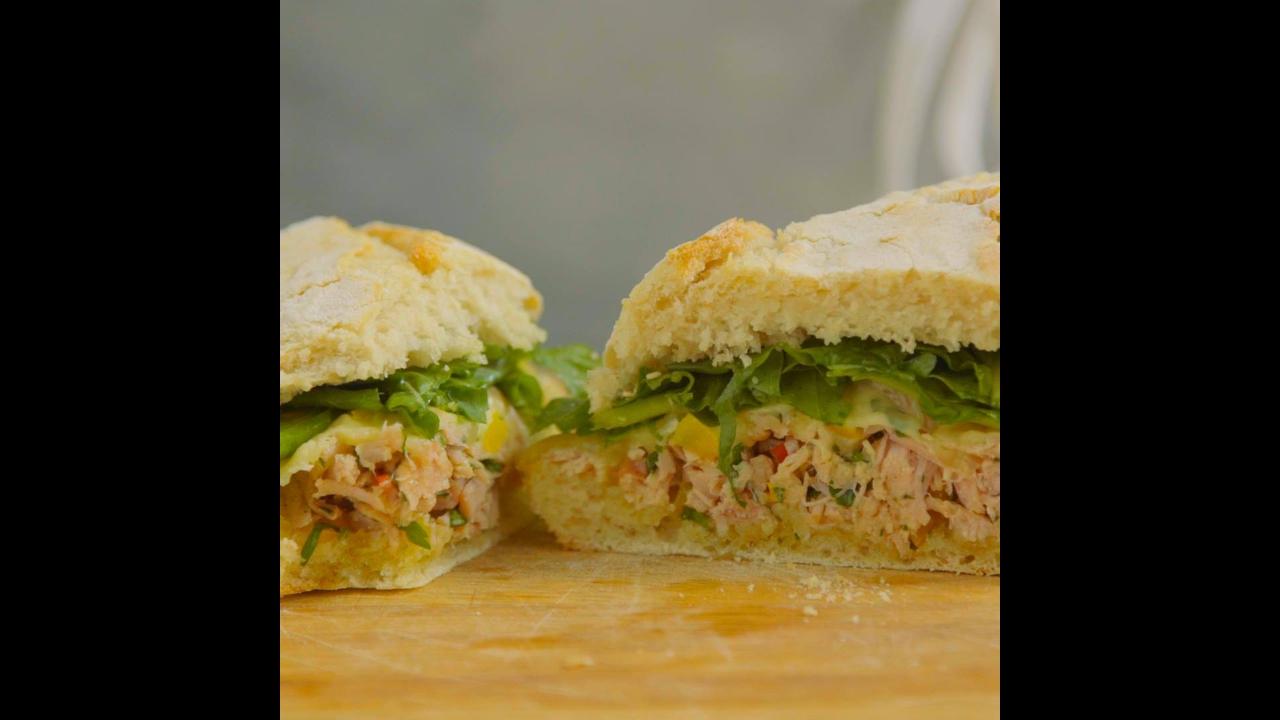 Receita de sanduíche de porco
