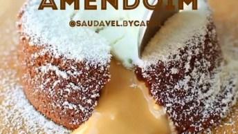 Receita De Sobremesa Diet, Com Pasta De Amendoim, Fica Uma Delicia!