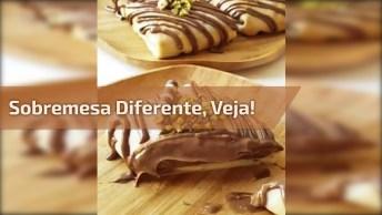 Receita De Sobremesa Diferente, Parece Uma Panqueca De Chocolate!