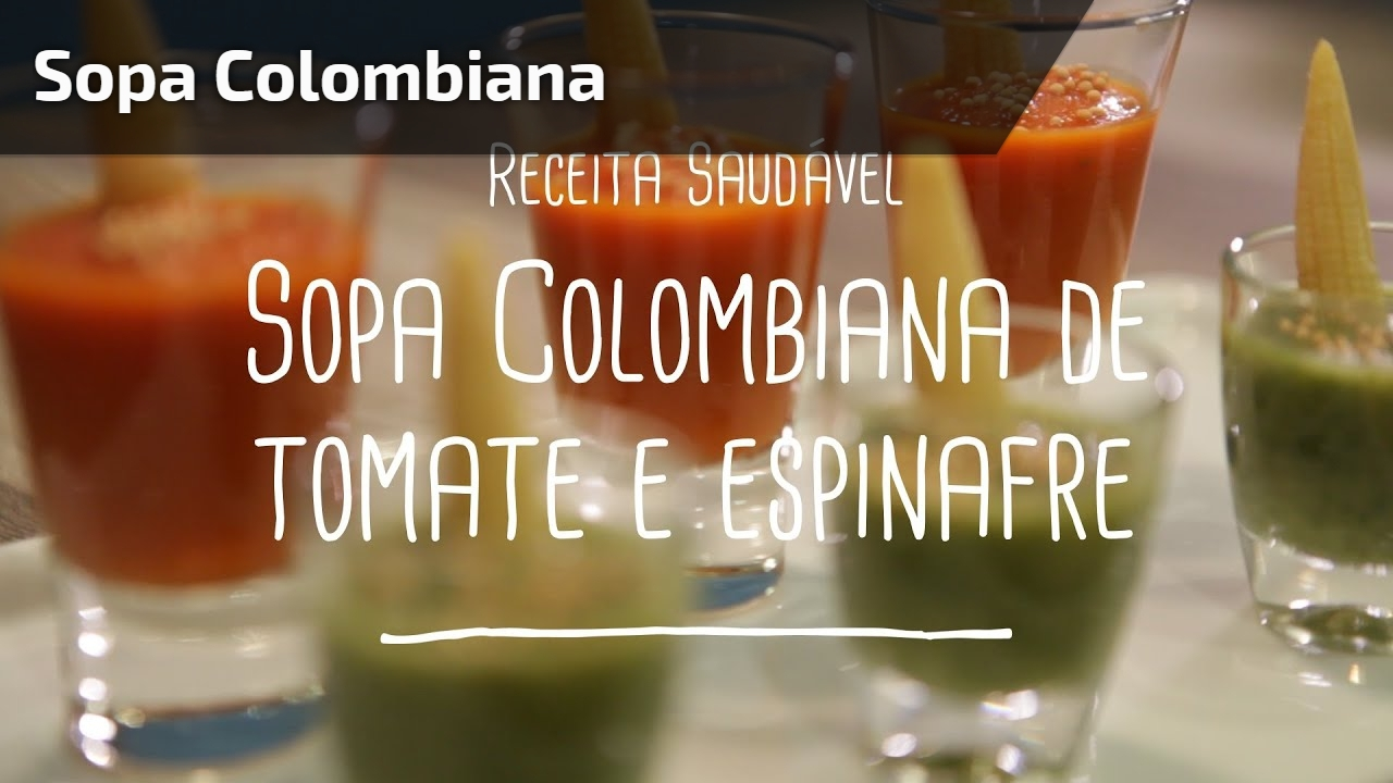 Receita de sopa colombiana de tomate e espinafre, vale a pena conferir!!!