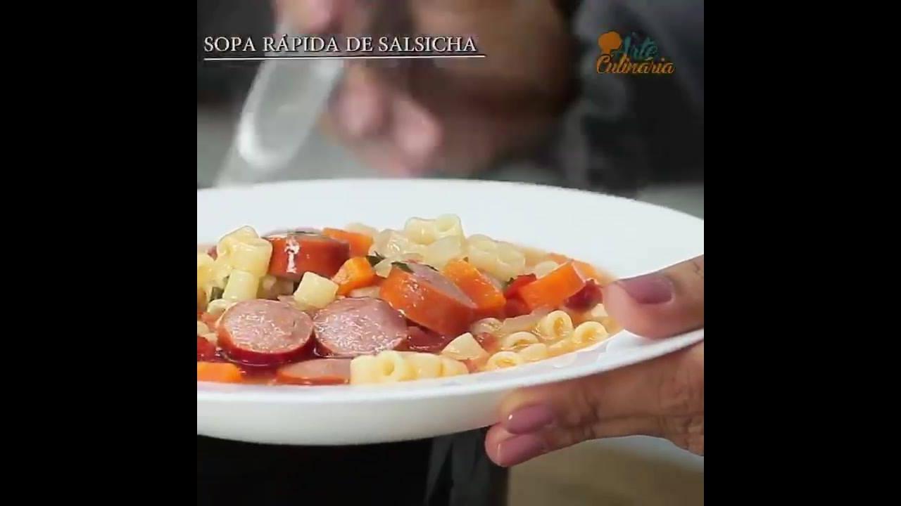 Receita de sopa de salsicha