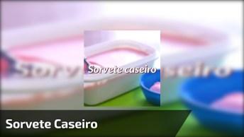 Receita De Sorvete Caseiro, Muito Fácil De Fazer, Confira!
