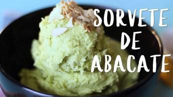 Receita De Sorvete De Abacate, Uma Delicia Refrescante E Super Nutritiva!