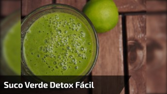 Receita De Suco Verde Detox, Uma Delicia De Beber, Aprenda!