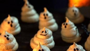 Receita De Suspiros Fantasmas, Perfeito Para Sua Festa De Halloween!