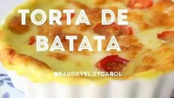 Receita De Torta De Batata No Pote, Que Ideia Incrível, Confira!