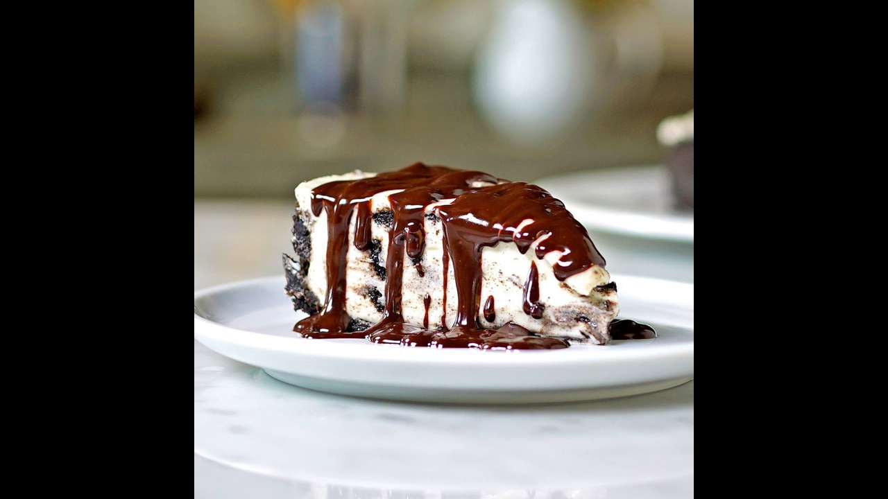 Receita de torta de biscoito de chocolate